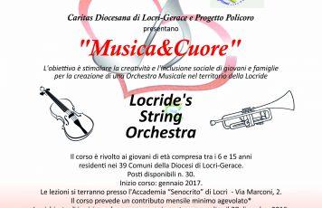 """Locri (RC): aperte le iscrizioni per la """"Locride's String Orchestra 2016/2017"""""""