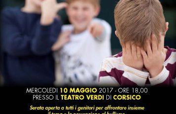 """""""NON E' UNO SCHERZO"""", cortometraggio sul bullismo – 10 maggio Teatro """"Verdi"""" Corsico (MI)"""