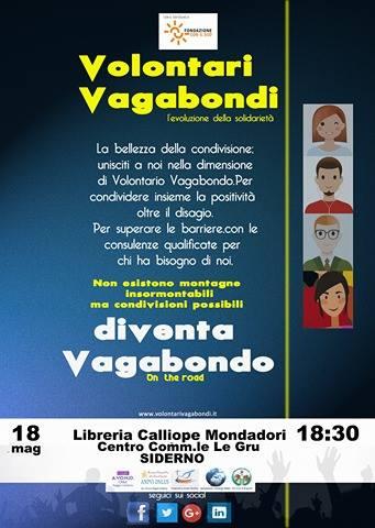 """Siderno (RC): presentazione del progetto """"Volontari vagabondi"""" alla libreria """"Calliope Mondadori"""""""