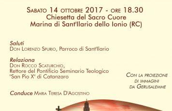 """Sant'Ilario dello Ionio (RC): sabato """"In Terra Santa – Sulle orme di Gesù di Nazareth"""""""