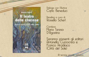 """Siderno (RC): la poesia di Antonia Capria alla libreria """"Calliope Mondadori"""""""