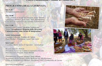 L'alimentazione come forma di integrazione:  cibo e multicultura nell'evento di domenica prossima a Camini (RC)