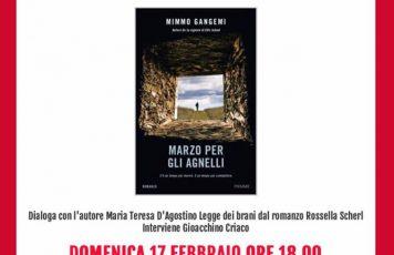 """Siderno (RC): l'atteso ritorno di Mimmo Gangemi in libreria, domenica alla Mondadori la presentazione di """"Marzo per gli agnelli"""" (Piemme)"""