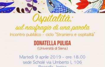 Roccella Jonica (RC): martedì 9 aprile nella sede di Scholé terzo incontro pubblico sulla figura dello straniero