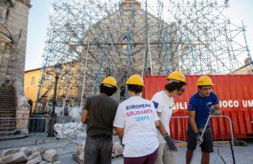 I Corpi Europei di Solidarietà sempre più vicini a Camini