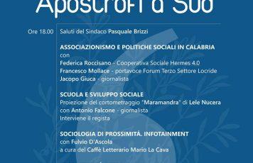 """Sant'Ilario dello Jonio (RC): sabato la manifestazione """"Apostrofi a Sud"""", tanti ospiti e l'incontro con il cantautore Paolo Sofia"""