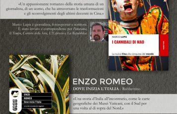 """Sant'Ilario dello Jonio (RC), martedì 30 luglio doppio incontro d'autore: Enzo Romeo presenta """"Dove inizia l'Italia"""", Marco Lupis """"I cannibali di Mao"""""""