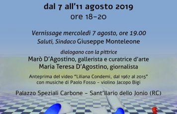 """Dopo l'inaugurazione alla Galleria Arkè di Locri della mostra """"Nel caos calmo"""", a Sant'Ilario mercoledì prossimo va in scena """"Liliana Condemi, un'artista ionica"""""""