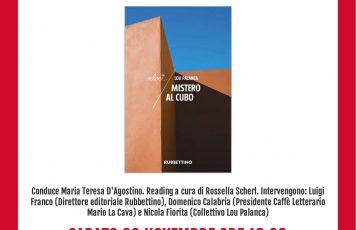 """Siderno (RC): alla Mondadori la presentazione di """"Mistero al cubo"""", l'atteso romanzo firmato Lou Palanca"""