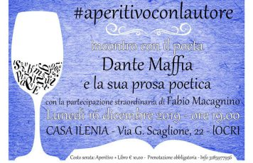 Locri (RC): lunedì 16 dicembre a Casa Ilenia incontro con il poeta Dante Maffia