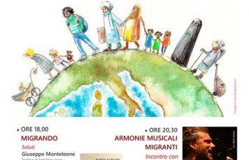 """A Sant'Ilario dello Jonio """"Storie migranti/2""""con Mimmo Gangemi, Ilario Ammendolia e la musica di Fabio Macagnino"""