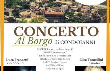 """Sant'Ilario dello Jonio (RC), lunedì 27 luglio nell'antica Condojanni """"Concerto al Borgo"""": Luca Franzetti, violoncello, Elisa Tomellini, pianoforte"""